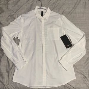 New Mens All About Town Long Sleeve-Large-White